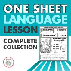 Looking for language therapy lessons or ideas? This is complete collection of all of my One Sheet Language Lesson printables and activities is perfect for your speech therapy classroom! They make therapy prep easy and can be used in a variety of ways. This speech therapy resource is perfect for elementary or middle school students. #speechtherapyactivities #speechlessons #languagetherapyideas #languagetherapy #languagelessons Language Lessons, Language Activities, Speech And Language, Speech Therapy Activities, How To Fall Asleep, Middle School, Kindergarten, Students, Classroom