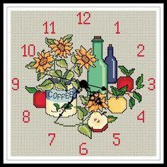 #Reloj de Cocina en #puntodecruz: