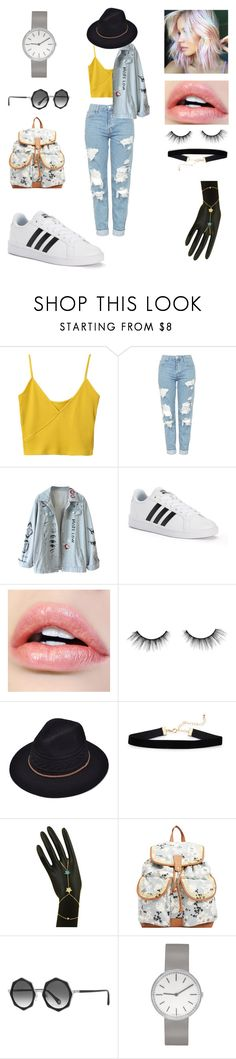 """Current mood"" by amyluprime on Polyvore featuring Topshop, adidas, tarte, Billabong, Raen Optics and Uniform Wares"