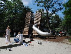 Vondeltuin Towers by Carve Landscape Architecture. Vondelpark, Amsterdam, the Netherlands, 2010.
