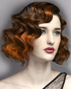 Large image of medium brown wavy hairstyles provided by Anne Veck Hair. Picture Number 17682