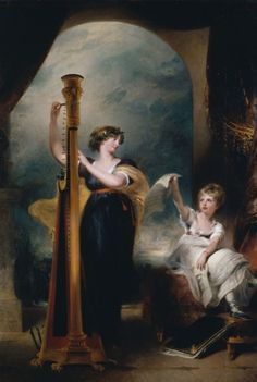 Caroline, Princess of Wales, with her daughter Princess Charlotte of Wales. Caroline married George IV in 1795, but the marriage was unhappy and the couple separated. By Sir Thomas Lawrence, c. 1801