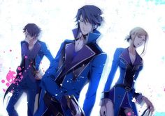 K Project Anime Reisi Munakata, The Blue King and head of Scepter 4 along with his 2nd in command Seri Awashima and