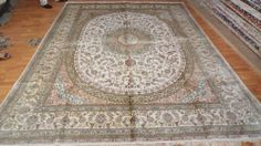 9'x12' Handmade Hand-knotted 200 kpsi Silk Oriental Persian Tabriz Rug 100
