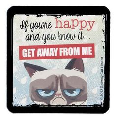 Grumpy Cat Magnet - The Second Knob Gifts & Antiques