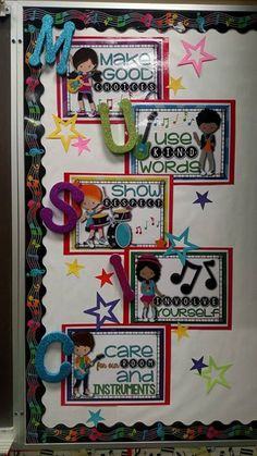 Rock Star Music Rules - elementary music bulletin board, back to school music room, classroom management - Music Rules posters and songs to go with each rule to get your students singing from the first day of music.