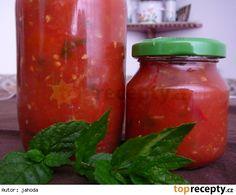 Rajčatové čatní (omáčka pokaždé jinak) Chutney, Salsa, Jar, Stuffed Peppers, Vegetables, Food, Spreads, Hot Pepper Sauce, Scrappy Quilts