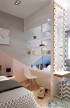Do you think it is only notebooks and books that a student lives? Well then you made a bad mistake. In order to obtain the maximum possible performanc. Home Office, Office Decor, Office Ideas, Study Table Designs, Bedroom Desk, My Home Design, Room Inspiration, Room Decor, My Room