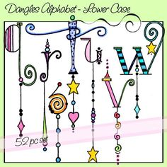 Dangles Alphabet – Lower Case