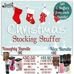 Get 6 #stocking #stuffers from each bundle! #Shop #Jolly #Holiday #Sale. While supplies last. #waxmaam www.waxmaam.com