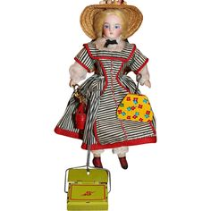 Vintage Tin Litho Doll Sweeper Vacuum & Dustpan!