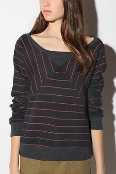 UrbanOutfitters.com > BDG Striped Terry Sweatshirt