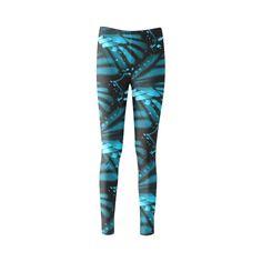 Blue Butterfly Wings Custom Fashion Leggings for Women