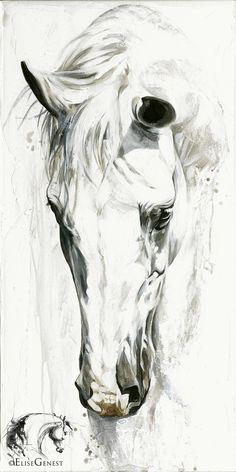 caballos negros en acrilico - Buscar con Google