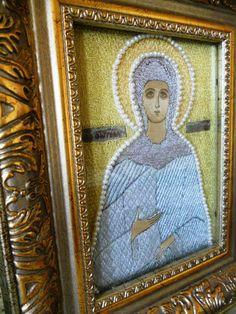 Icon of St. Photine of Palestine gold by raskinfamilyworkshop