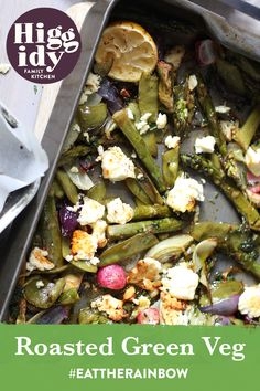 Enjoy our Roasted Green Veg recipe for a veg-packed side for a weekend feast Eat The Rainbow, Family Kitchen, Veg Recipes, Roast, Ethnic Recipes, Green, Food, Vegetarian Recipes, Plant Based Recipes