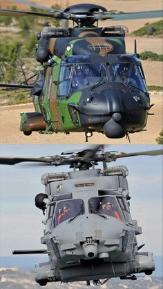 The Airbus NH90 medium class military helicopter is a modern and multi-role aircraft designed according to the most stringent NATO standards. Developed in two versions – tactical troop transport (TTH) and NATO Frigate Helicopter (NFH) – the NH90 is well suited for operations in the most demanding conditions over land and sea, day and night.