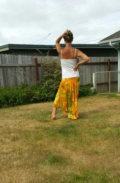 Ice yellow dyed tie dye skirt pixie summer boho dance skirt maxi flowy skirt made by Wendy at Lunabeanshoppe.etsy.com!