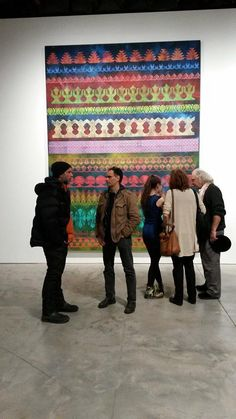 Philip Taaffe Artist Paintings Luhring Augustine Gallery Bushwick Brooklyn New York