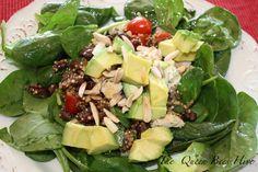 quinoa salad with avocado and spinach