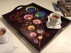 Manualidades y Artesanías | Bandeja con círculos | Utilisima.com