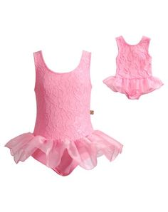 054f99fc371 Another great find on Pink Lace Skirted Leotard   Doll Leotard - Girls by  Dollie   Me