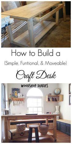 How to Build a DIY Craft Desk