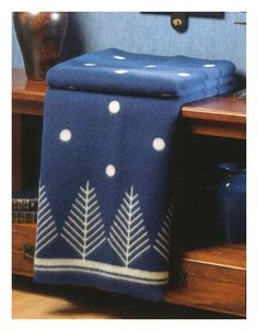 Norwegian wool blanket- I love seeing the ways traditional designs and crafts can be updated.