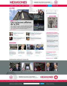 Hexagones.fr - homepage