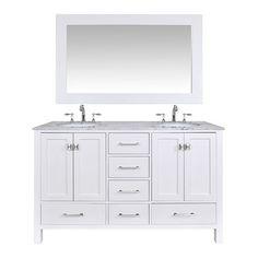 "Found it at Wayfair - 60"" Double Bathroom Vanity Set with Mirror"