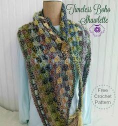 Timeless Boho Shawlette – Free Crochet Pattern