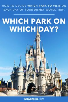 How do you decide which Disney World park to visit on each day of your trip? This post discusses several factors to consider including dining reservations, FastPass+ availability, Extra Magic Hours, crowd calendars and more! Disney World Park Hours, Best Disney Park, Disney World Rides, Disney World Tickets, Disney World Hotels, Disney World Florida, Disney World Parks, Walt Disney World Vacations, Disney Trips