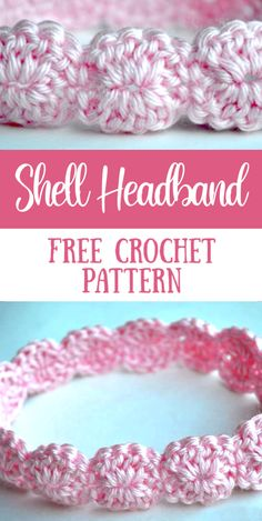 Free Crochet Pattern for a Shell Stitch Headband - perfect for a baby girl or a little girl! patterns baby girl dresses Crochet Shell Headband - Free Crochet Pattern – My Merry Messy Life Baby Girl Crochet, Crochet Baby Clothes, Crochet Headband Free, Free Crochet, Crocheted Headbands, Crochet Shell Stitch, Flower Headbands, Toddler Headbands, Crochet Simple