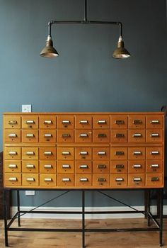 What kind of librarian would I be if I didn't have an old school card catalogue in my office?