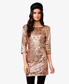 V-Back Sequined Dress #partyperfect