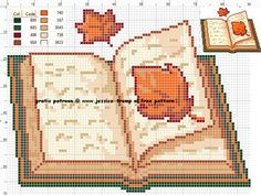 Cross Stitch Boarders, Cross Stitch Books, Cross Stitch Bookmarks, Free Cross Stitch Charts, Counted Cross Stitch Patterns, Cross Stitch Embroidery, Art Sketchbook, Pixel Art, Cross Stitch Art