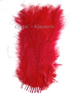 ♥PLU2-09♥ 10 PLUMAS NATURALES TEÑIDAS  FEATHER COLOR ROJO  13-15 CM♥