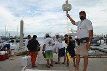 Pepin Fernandez weight master at the annual Art Pinder spearfishing championship, Miami. FL #examinercom