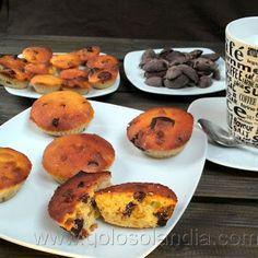 Mantecadas con chocolate y nueces. Receta casera y fácil paso a paso.  http://www.golosolandia.com/2013/08/mantecadas.html
