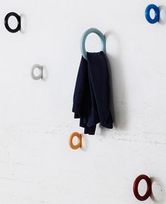 Forward Clothes Hangers by Staffan Holm - DesignsWeLove - Contemporary furniture design, Interior design, Architecture and Style Deco Dyi, Towel Hooks, Towel Hanger, Coat Hanger, Scandinavian Furniture, Danish Furniture, Creative Walls, Creative Things, Wall Hooks