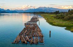 Río Pitt en Columbia Británica