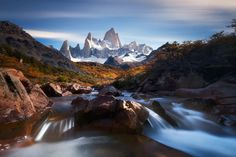 Silence flow of Fitz Roy by AtomicZen Landscape Flow Long exposure Patagonia Fitz Roy Silence flow of Fitz Roy AtomicZen Landscape Photos, Landscape Photography, Travel Photography, Cool Landscapes, Photos Of The Week, Best Location, Cool Photos, National Parks, Scenery