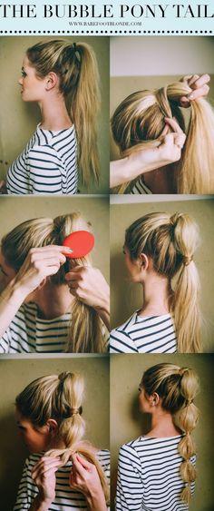 Cute Bubble Ponytail Hairstyle - Tutorial - Toronto, Calgary, Edmonton, Montreal, Vancouver, Ottawa, Winnipeg, ON
