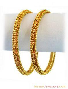 Gold Bangles 22K (2 Pc) ( Gold Bangles )