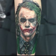 There is no better way to honor The Clown Prince of Crime than by tattooing a permanent piece of Joker art. We've had so many amazing Joker tattoos posted to the GeeksterInk app over the past two m...