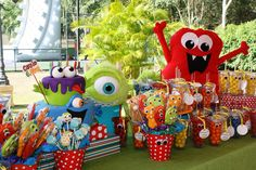 Monster Themed Birthday Party via Karas Party Ideas | KarasPartyIdeas.com #monster #birthday #party (24)