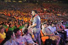 VMD Pathman Senathirajah talking to thousands at V-Indonesia 2012 in SICC, Sentul City, Indonesia.