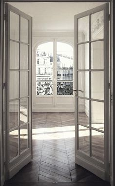 Herringbone floors and French Doors