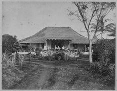 De adminstrateurswoning op de onderneming Djinokwangie op Java. 1860-1878