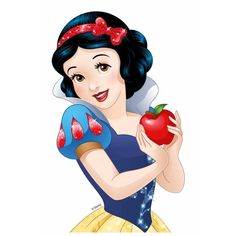 Snow White™ Cake Picture: This Snow White™ cake picture is an official product from Disney Princesses™. The edible picture measures x and shows Snow White holding a red apple. Disney Princess Snow White, Snow White Disney, Disney Princess Pictures, Snow White Cartoon, Deviantart Disney, Snow White Cake, Image Princesse Disney, Disney Princess Birthday Party, Cinderella Birthday